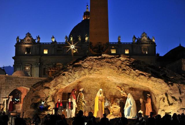 Vatican's Nativity scene